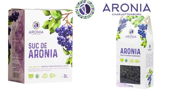 Aronia Charlottenburg cashback - cumpara suc de aronia natural bio fructe desihidratate si castiga bani online