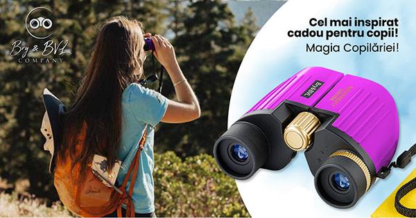Binoclu copii cashback - cumpara binoclu copii zoom 8X obiectiv 22 mm si castiga bani online