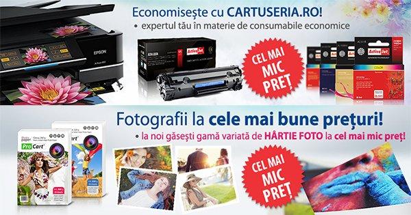 Cartuseria cashback - cumpara imprimante, consumabile inkjet, laser, birotica si papetarie si castiga bani online