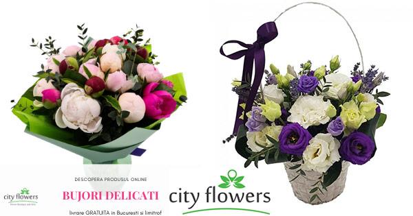CityFlowers cashback - cumpara buchete de flori, aranjamente florale, plante, cosuri si castiga bani online
