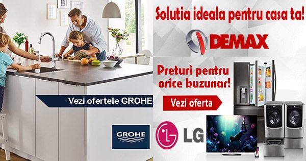 Demax cashback - cumpara electronice, electrocasnice, frigidere, cuptoare si castiga bani online