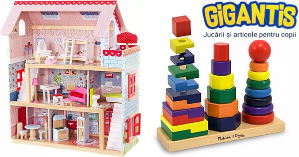 Gigantis cashback - cumpara jucarii jocuri copii creative educative de petrecere si castiga bani online