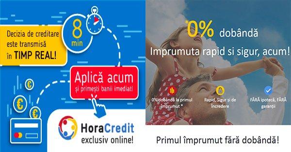 Hora Credit cashback - cumpara oferte credite online, imprumut 0% dobanda si castiga bani online