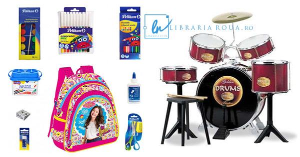 Libraria Roua cashback - cumpara rechizite scolare produse copii papetarie jucarii si castiga bani online