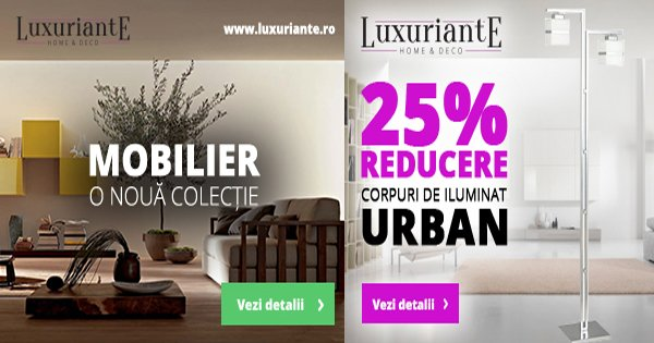 Luxuriante cashback - cumpara corpuri de iluminat lustre spoturi decoratiuni casa si castiga bani online