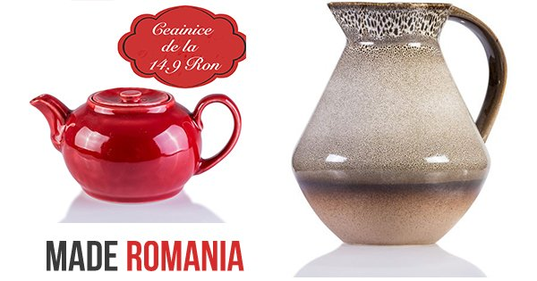 Made Romania cashback - cumpara obiecte artizanat ceramica, oale, vaze si castiga bani online