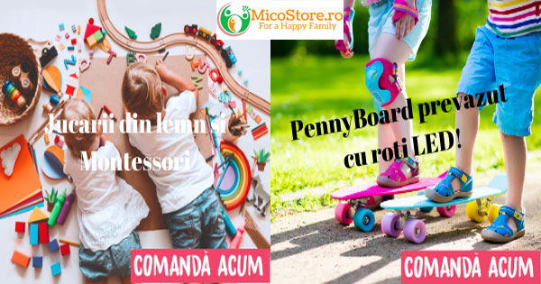 MicoStore cashback - cumpara jucarii educative bebelusi lemn rechizite, scutece si castiga bani online