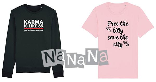 Nanana cashback - cumpara tricouri personalizate maiouri bluze hanorace barbati femei si castiga bani online