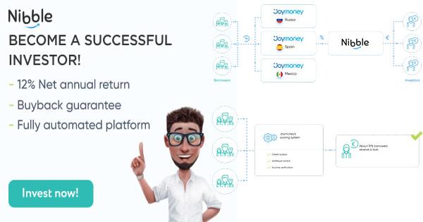 Nibble Finance cashback - cumpara investitii in imprumuturi pe termen scurt si lung si castiga bani online