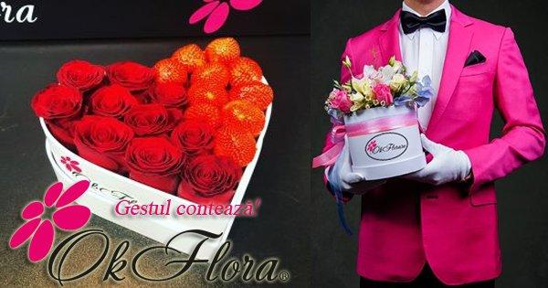 OkFlora cashback - cumpara livrari de flori, buchete, aranjamente florale si castiga bani online
