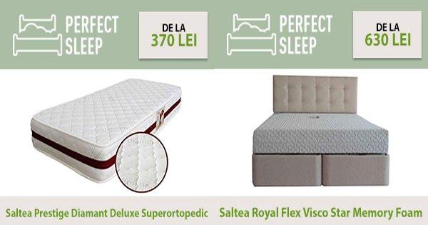PerfectSleep cashback - cumpara saltele pat, toppere, perne, somiere si castiga bani online