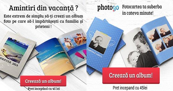 PhotoGo cashback - cumpara fotocarti online personalizate, albume foto si castiga bani online