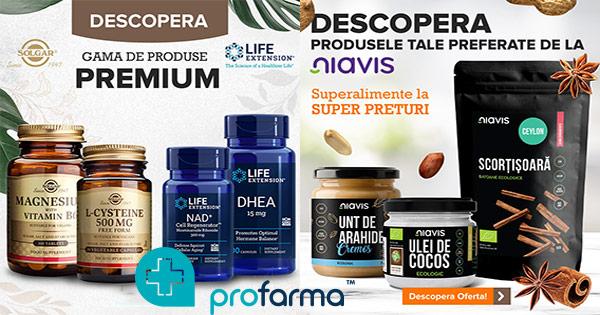 ProFarma cashback - cumpara suplimente alimentare, cosmetice bio, alimetnte bio si castiga bani online