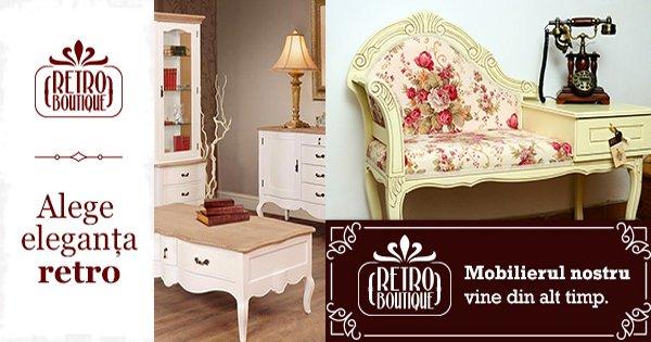 RetroBoutique cashback - tu cumperi mobila vintage living, dormitor, canapele noi iti dam bani