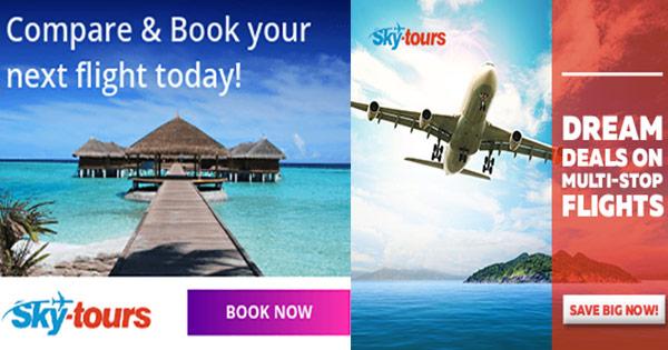SkyTours cashback - cumpara bilete de avion, zboruri, inchirieri masini si castiga bani online