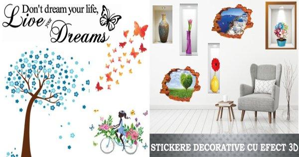 Sticky art cashback - cumpara stickere decorative de perete 3D, geam, masina si castiga bani online