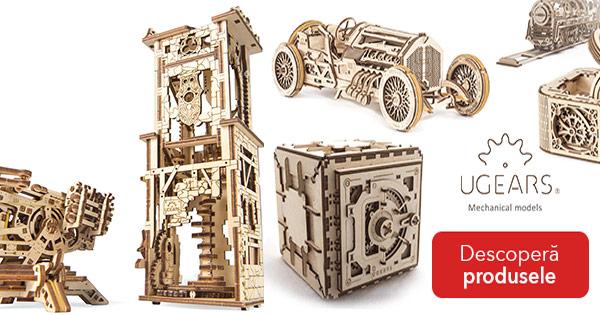 UGears cashback - cumpara puzzle-uri mecanice 3D din lemn natural si castiga bani online