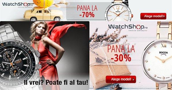 Castiga bani cashback la ceasurile WatchShop, ceasuri barbatest si dama, smartwatch