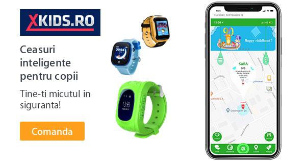 XKids cashback - cumpara ceasuri inteligente copii, smartwatch localizare si castiga bani online