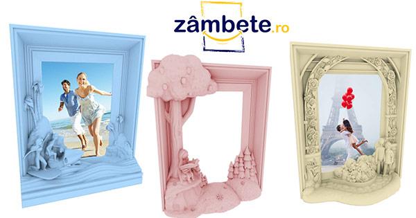 Zambete cashback - cumpara rame foto 3D, nou nascuti cupluri baieti fete si castiga bani online