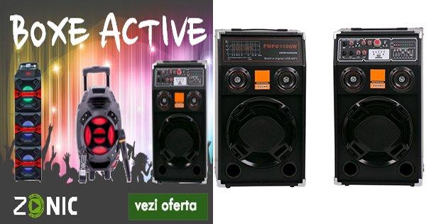 Zonic cashback - cumpara boxe active stereo portabile bluetooth si castiga bani online